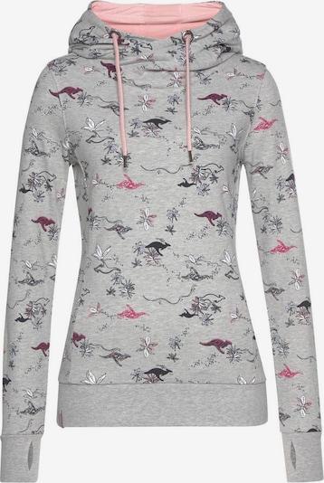 KangaROOS Kapuzensweatshirt in graumeliert / hellpink / schwarz / weiß, Produktansicht