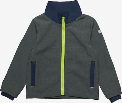 ESPRIT Jacke in nachtblau / grau / neongrün, Produktansicht