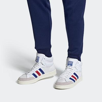 ADIDAS ORIGINALS Sneaker 'Americana Hi' in blau / grau / rot / weiß: Frontalansicht