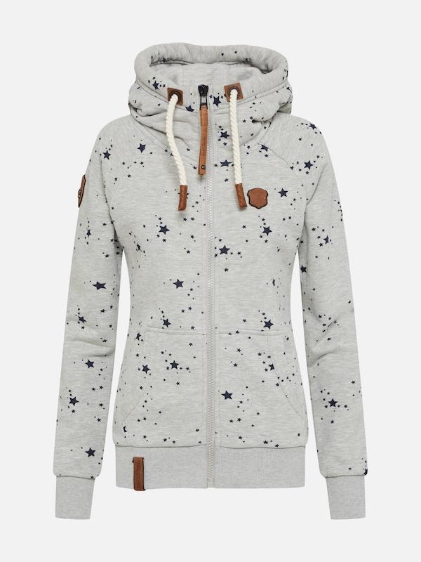 graumeliert in 'Schluckischluckischlucki' Sweater Naketano