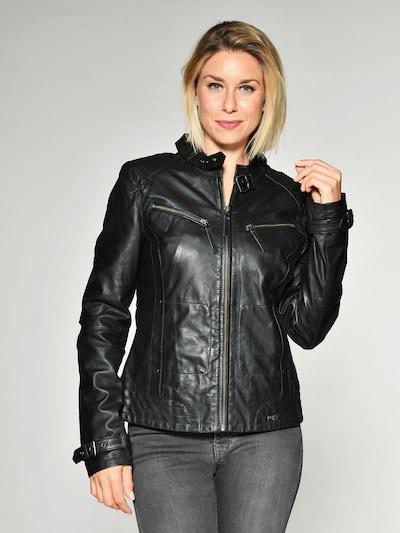 Maze Lederjacke ' Ryana ' in schwarz: Frontalansicht
