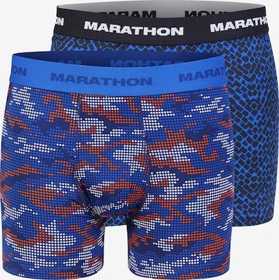 MARATHON Shorts in blau / dunkelorange / weiß, Produktansicht