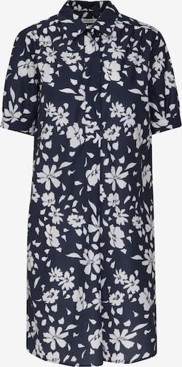 SEIDENSTICKER Blusenkleid 'Schwarze Rose' in blau / weiß: Frontalansicht