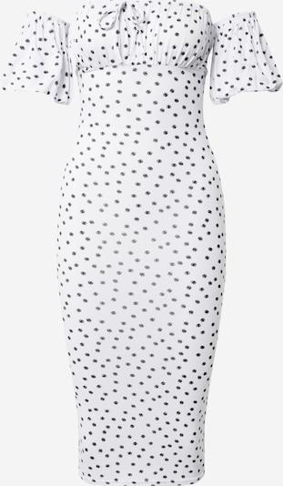Missguided Kleid 'Polka' in weiß, Produktansicht