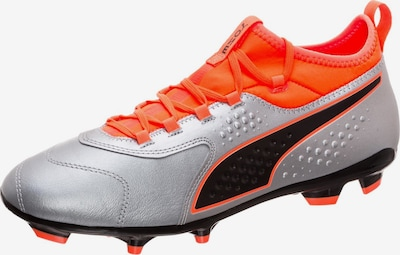 PUMA Fußballschuh 'ONE 3' in orangerot / schwarz / silber, Produktansicht