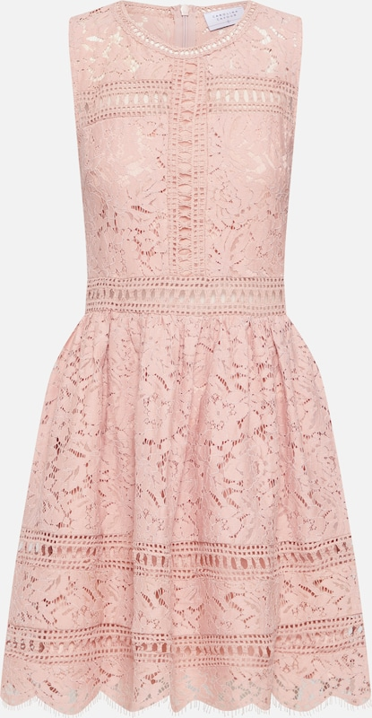 Carolina Cavour Kleid 'Lace and embroidery' in pink, Produktansicht
