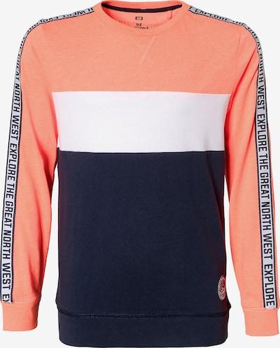 WE Fashion Sweatshirt in orange / weiß, Produktansicht