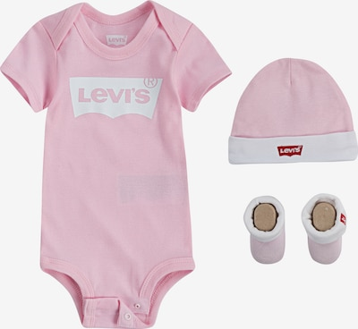 LEVI'S Strampler 'Classic Batwing Infant 3pc Set' in rosa, Produktansicht