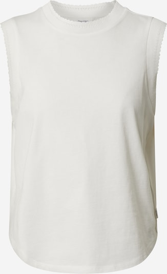 Marc O'Polo DENIM Top 'sleeveless shirt + lace rib' in de kleur Wit, Productweergave
