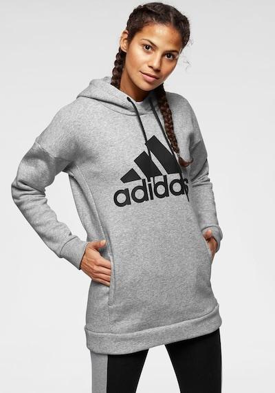 ADIDAS PERFORMANCE Sweatshirt 'Batch' in graumeliert / schwarz: Frontalansicht