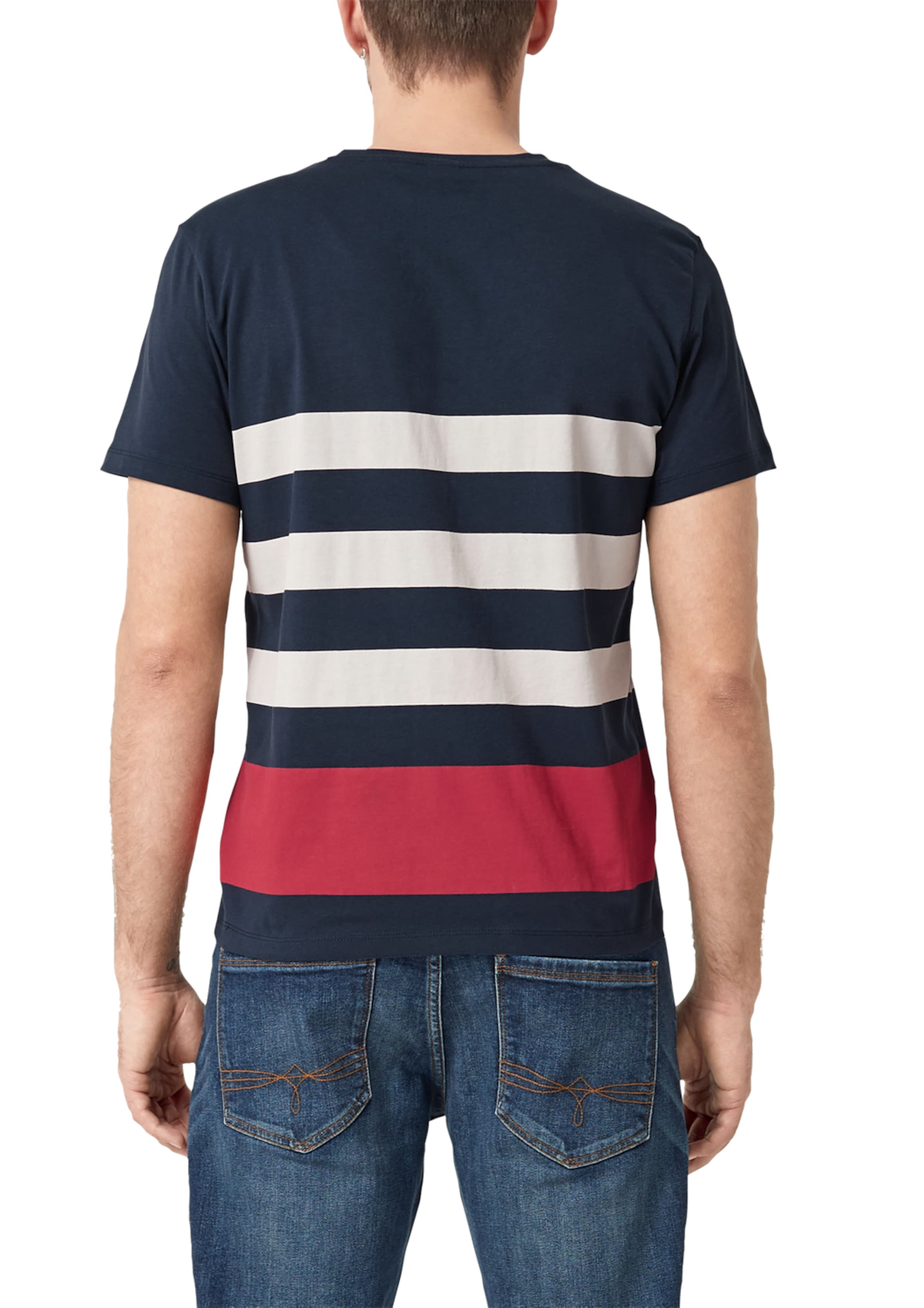 oliver T In S DunkelblauRot shirt Weiß 8PkwOn0