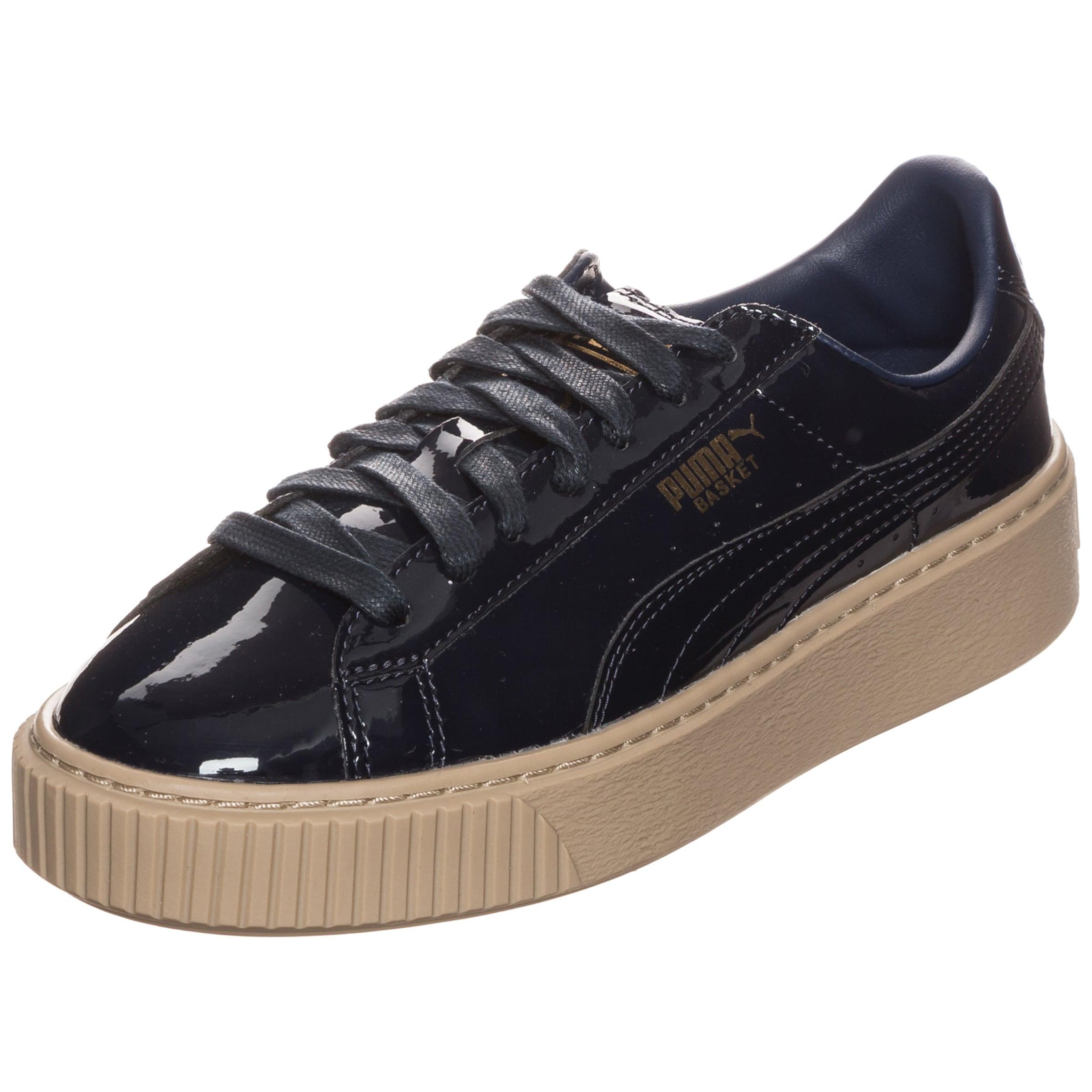 PUMA Sneaker  Basket Platform Patent Wn s