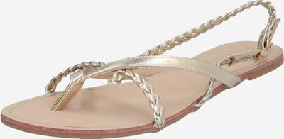 ONLY Sandale 'Magrit' in beige / gold, Produktansicht