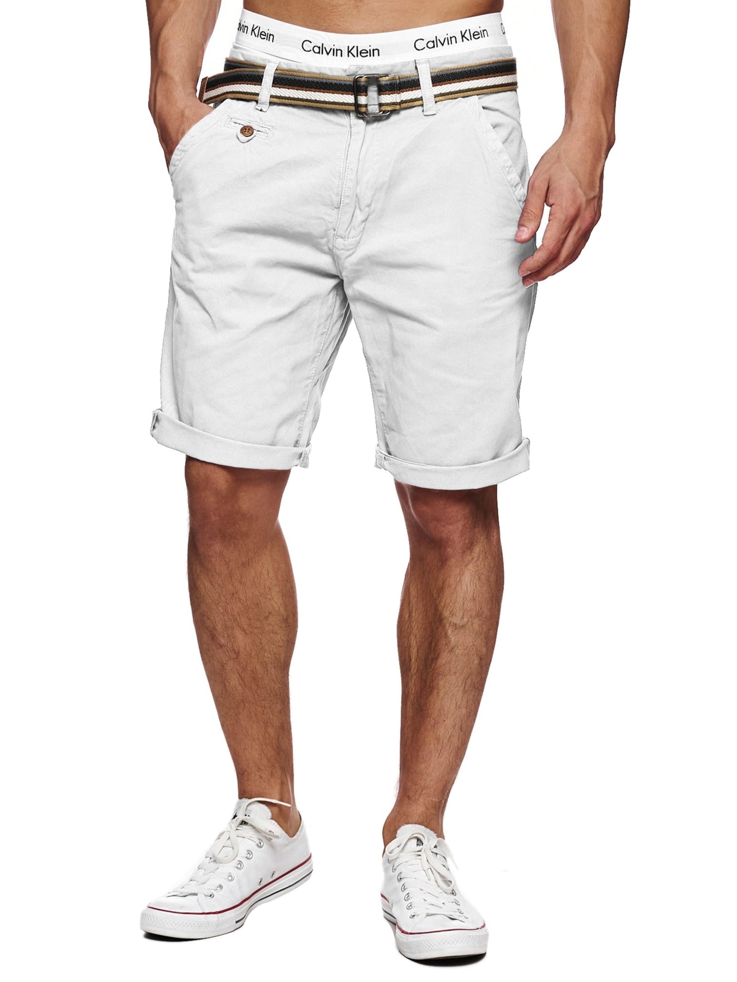 Shorts In Weiß 'cuba' Indicode Jeans POkXTuZi