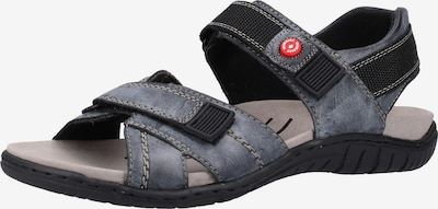 RIEKER Sandalen in taubenblau / schwarz, Produktansicht