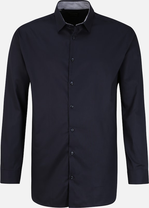 SELECTED HOMME Hemden 'SLHREGNEW-MARK SHIRT LS B PS' in navy, Produktansicht