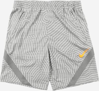 NIKE Sporthose 'Strike' in grau / hellgrau / orange, Produktansicht