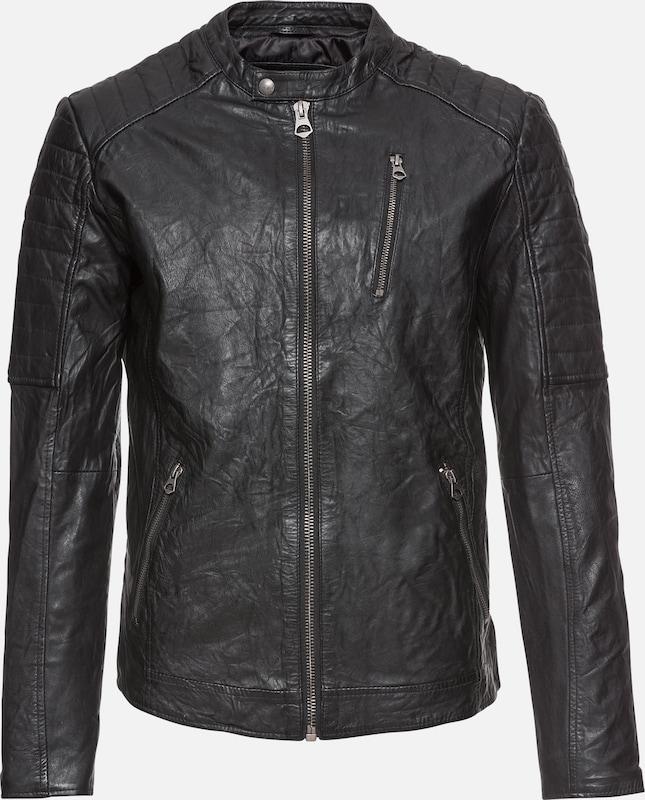 Noos' Jackamp; Jones Noir saison En Mi Jacket Veste Lamb Leather 'jjvrichard xEdWrCoeBQ