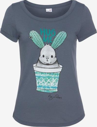 KangaROOS T-Shirt in taubenblau / mischfarben, Produktansicht