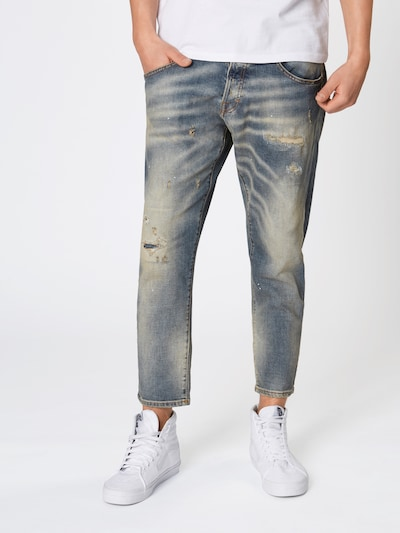 JACK & JONES Jeans 'FRANK LEEN' in blue denim, Modelansicht