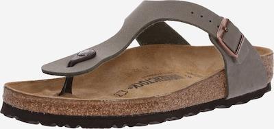 BIRKENSTOCK Vaļējas kurpes 'Gizeh' pelēkbrūns, Preces skats