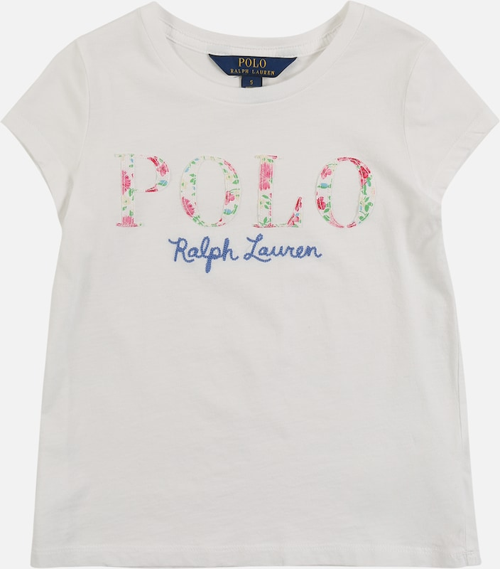 POLO RALPH LAUREN Shirt 'SS CN POLO T-TOPS-KNIT' in weiß, Produktansicht