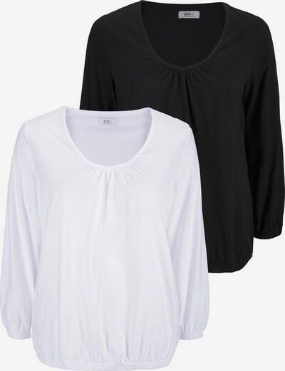 FLASHLIGHTS Langarmshirt in schwarz / weiß, Produktansicht