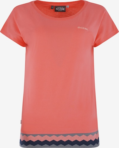 mazine T-Shirt 'Lynn' in grau / mint / lachs, Produktansicht
