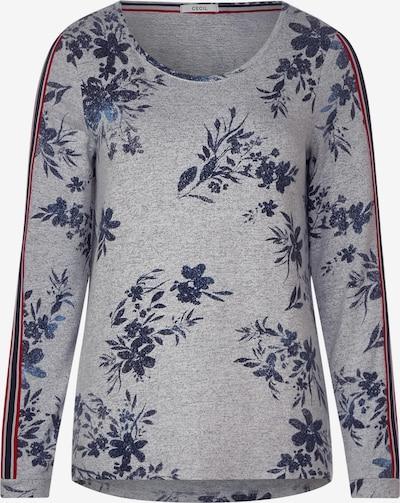 CECIL Shirt in de kleur Donkerblauw / Grijs / Rood: Vooraanzicht