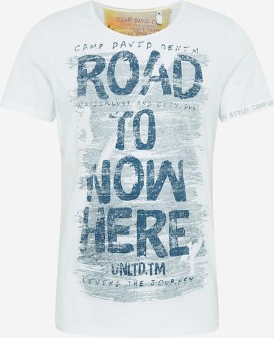 CAMP DAVID T-Krekls pieejami zils / balts, Preces skats