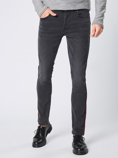 Only & Sons Jeans 'LOOM SLIM TAPE BLACK PK 5415' in rot / black denim, Modelansicht