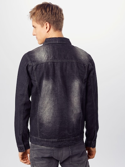 SOUTHPOLE Jacke 'Trucker' in black denim: Rückansicht