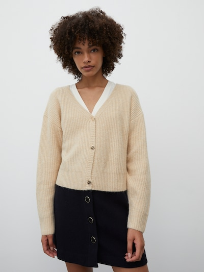 EDITED Strickjacke 'Ronja' in beige, Modelansicht