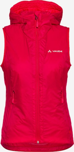VAUDE Outdoorweste 'Freney Hybrid' in cranberry: Frontalansicht