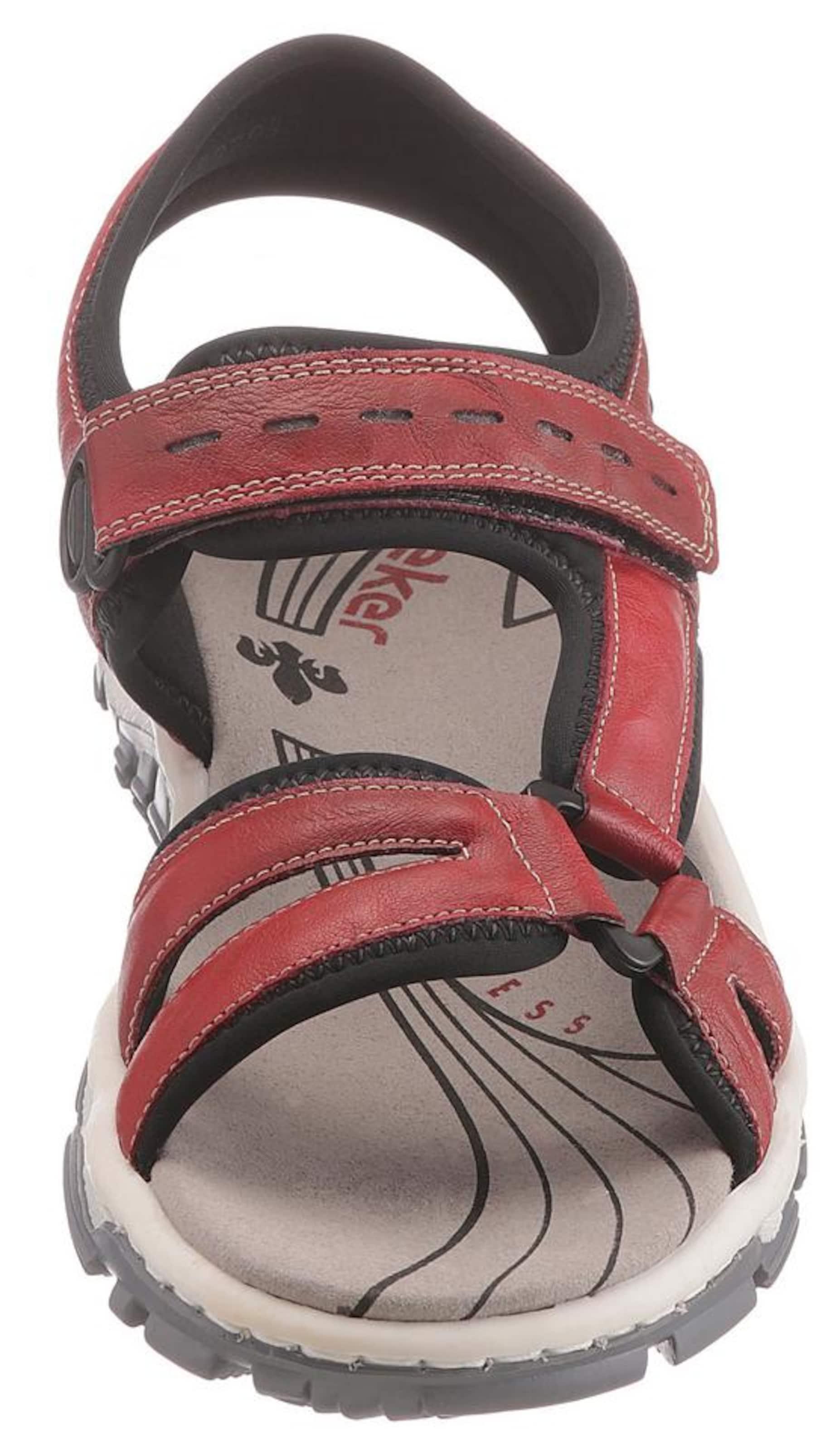 Rieker BlutrotSchwarz Sandale In Sandale Rieker kXZiOuP