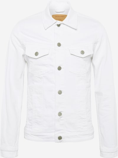 JACK & JONES Jacke 'Alvin' in white denim: Frontalansicht
