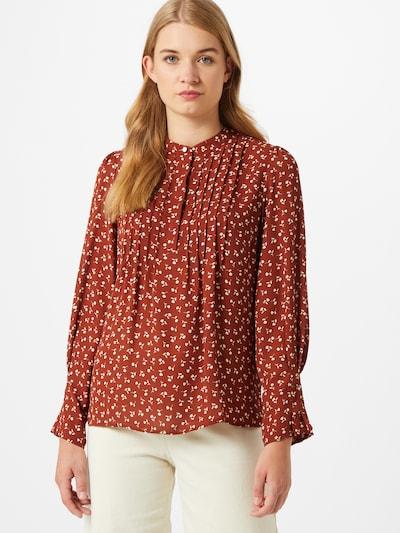 SELECTED FEMME Bluse in creme / rostrot, Modelansicht