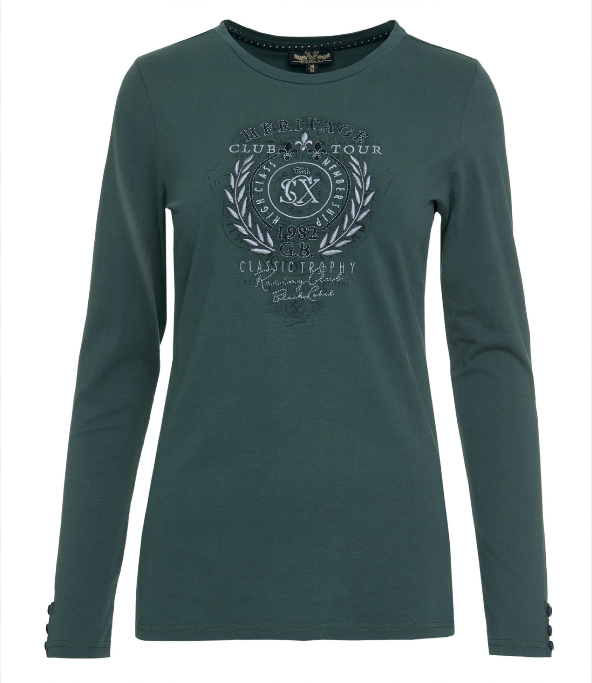 Soccx Soccx Shirt In Shirt SmaragdSchwarz Weiß wulXZTkiOP