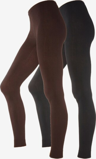 LAVANA Leggings in schoko / schwarz, Produktansicht