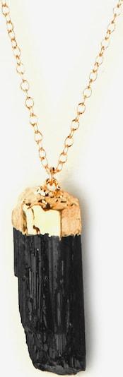 Koshikira Kette 'Black Nugget' in gold / schwarz, Produktansicht