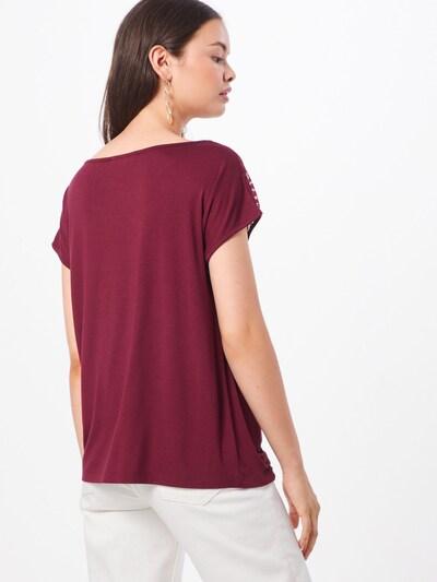 ABOUT YOU T-shirt 'Josina' en bordeaux: Vue de dos