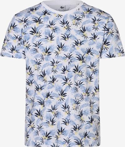Nils Sundström T-Shirt ' ' in hellblau / dunkelblau / gelb / weiß, Produktansicht
