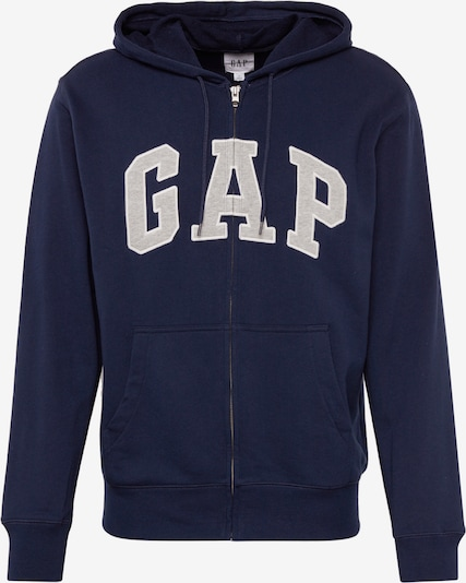 GAP Sweatjacke 'XLS FT ARCH FZ HD' in navy / weiß, Produktansicht