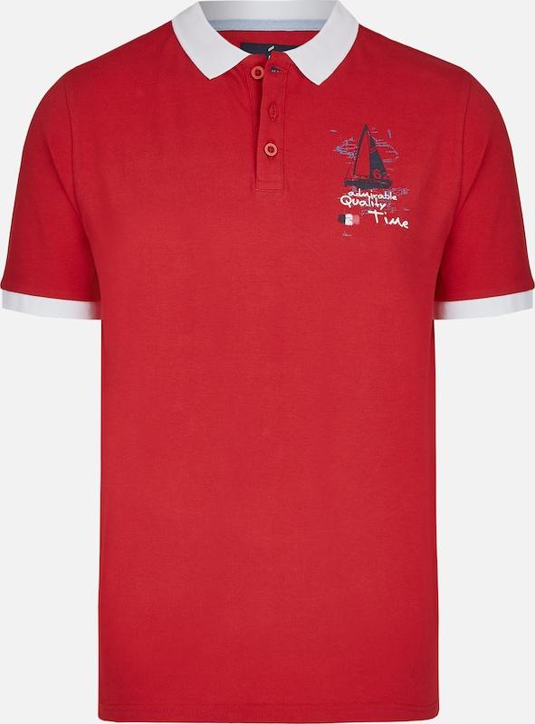 DANIEL HECHTER Polo in rot   weiß  Bequem und günstig