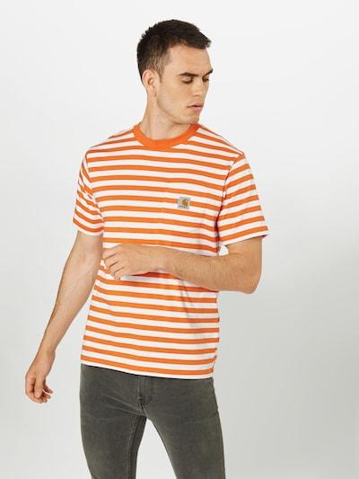 Carhartt WIP Koszulka w kolorze pomarańczowy / białym: Widok z przodu