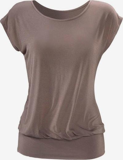 LASCANA T-shirt i gyttjefärgad: Sedd framifrån
