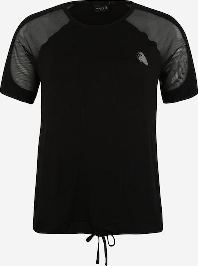 Active by Zizzi Sport-Shirt  'ACADY' in schwarz, Produktansicht