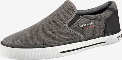 TOM TAILOR Slip On in greige / schwarzmeliert, Produktansicht