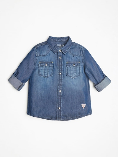 GUESS KIDS Jeanshemd in blue denim / weiß, Produktansicht