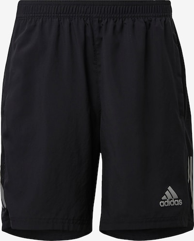 ADIDAS PERFORMANCE Shorts 'Own the Run' in silbergrau / schwarz, Produktansicht